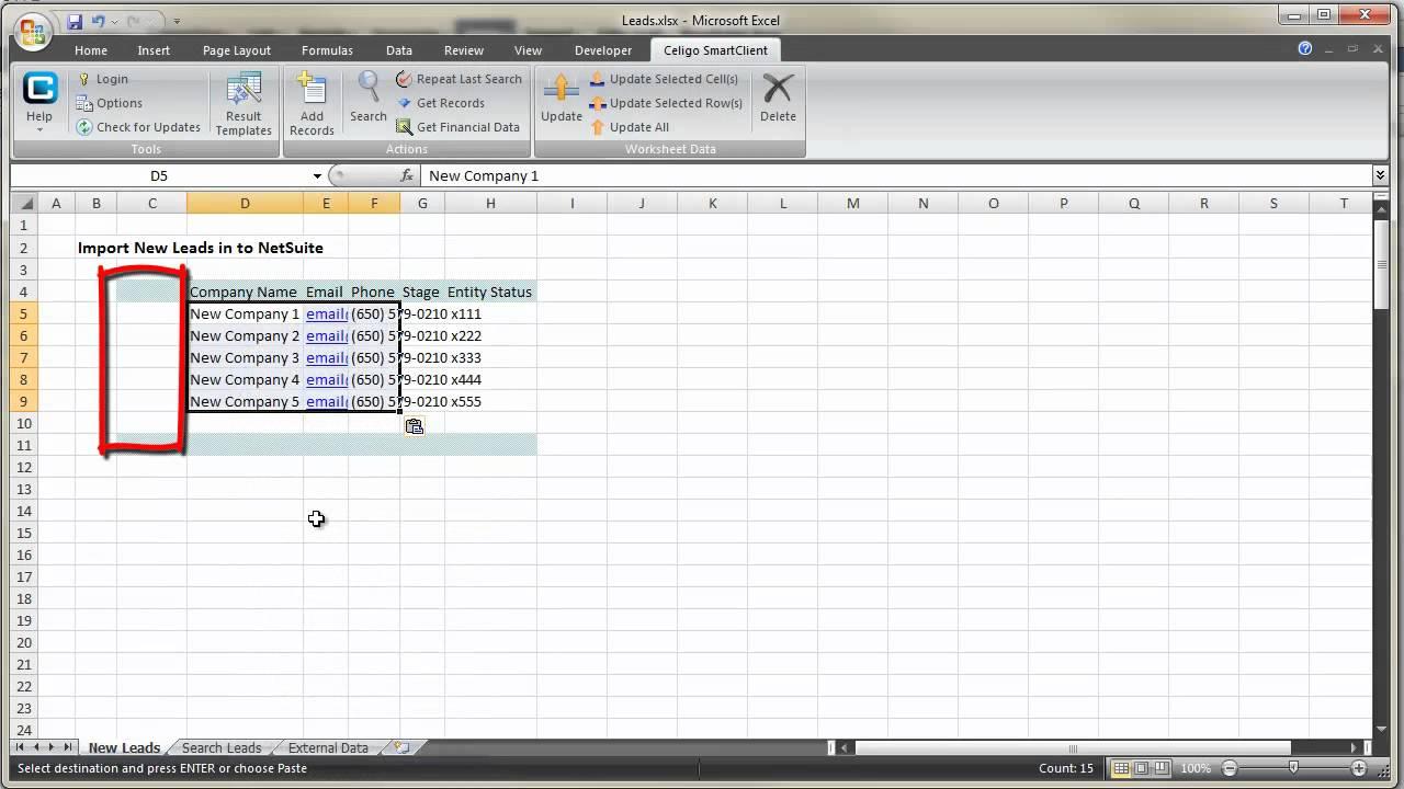 Excel SmartClient: Import Leads - YouTube