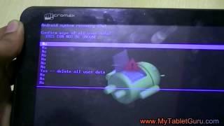 micromax funbook tablet p255 hard reset factory wipe method