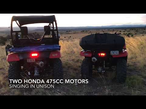 IDLING in UNISON - Honda Pioneer 500 & Honda Foreman 4x4 (Vid #68)