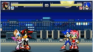 mugen shadow and rouge vs sonic and amy part 3 3