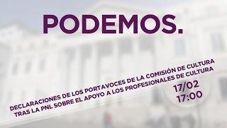 Declaraciones de los portavoces de la Comisión de Cultura tras la PNL presentada hoy