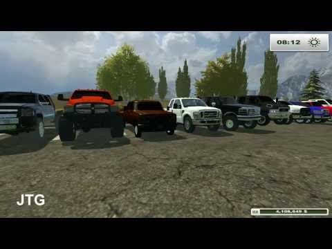 Farming Simulator Mods- Dodge, Chevy, Ford, GMC Trucks