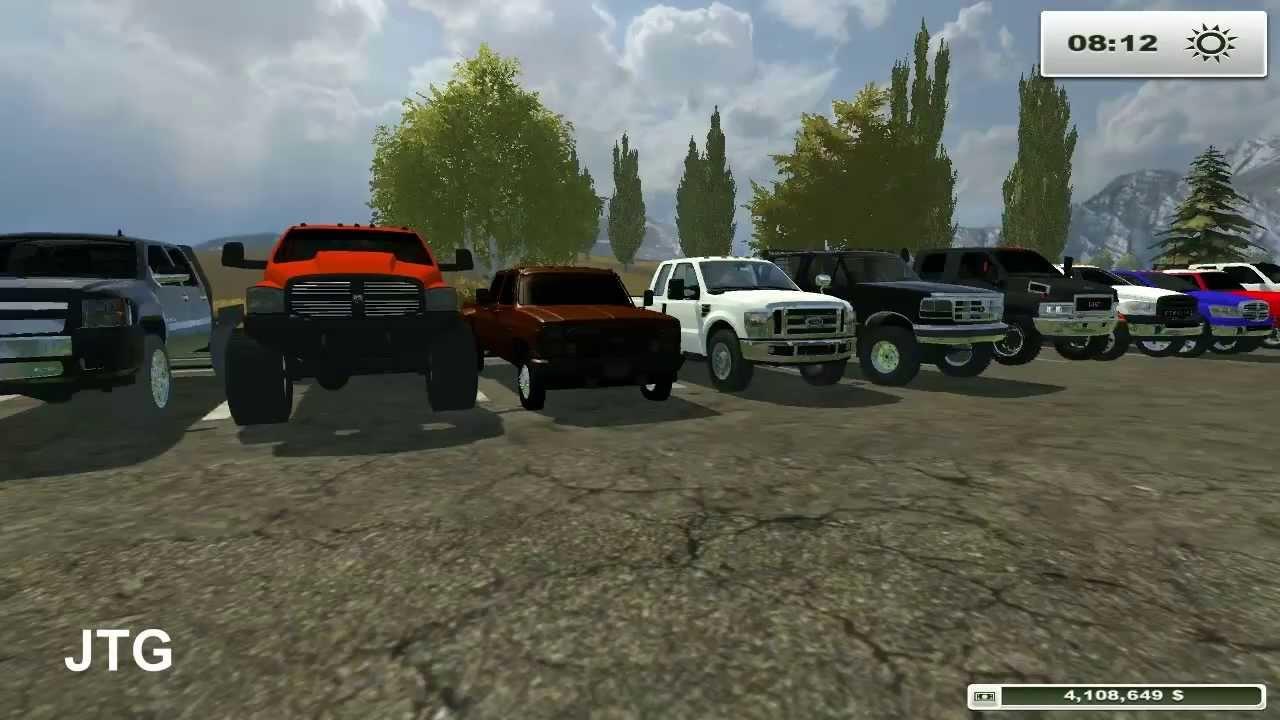 Farming Simulator 2013 Mods Dodge Chevy Ford Gmc