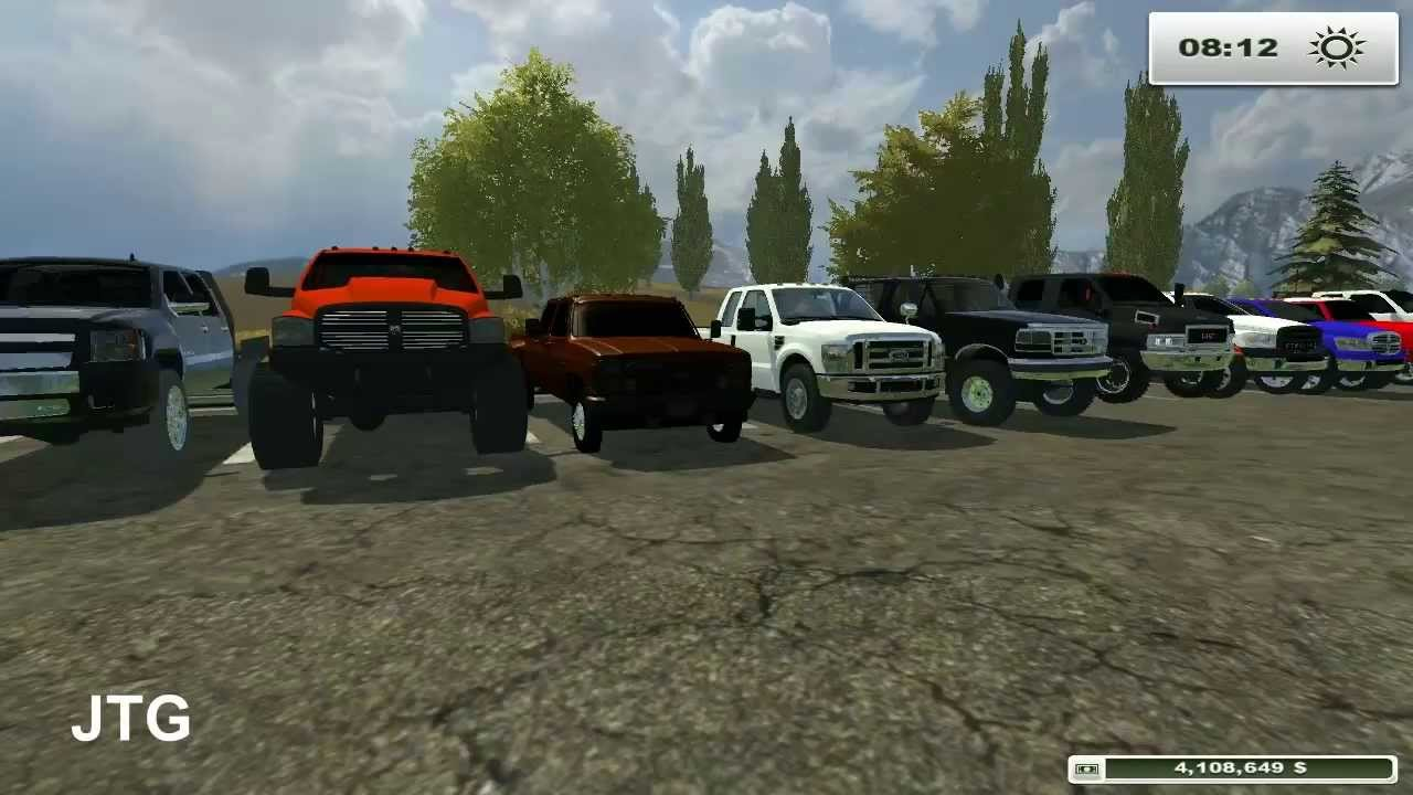Farming Simulator 2013 Mods- Dodge, Chevy, Ford, GMC Trucks