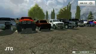 Farming Simulator 2013 Mods- Dodge, Chevy, Ford, GMC Trucks