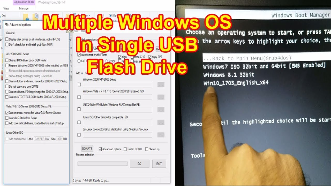 Multiboot USB Installer,Install Multiple Windows OS In Single USB Flash  Drive,Multiboot Flash Drive