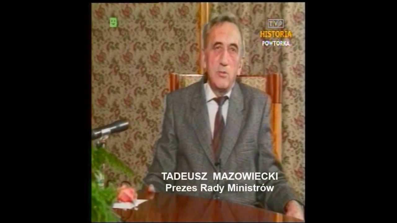 Tadeusz Mazowiecki: PRL 1989 Tadeusz Mazowiecki. Proste Słowa Do Polaków