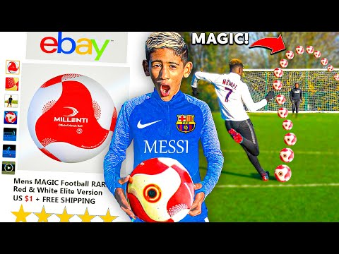 I Bought a MAGIC Football on eBay for KID MESSI & IT WORKED!! Play Like Ronaldo & Neymar