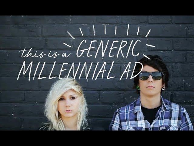Todos los tópicos del marketing y la publicidad para jóvenes en un solo anuncio, producido con imágenes de archivo