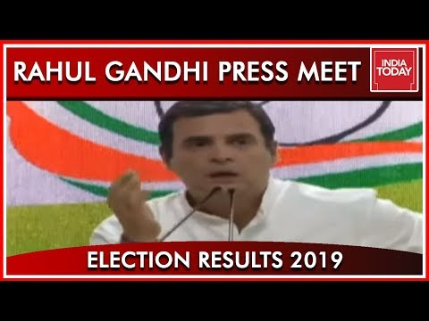 Rahul Gandhi Addresses Press Conference; Congratulates Modi And BJP  Results 2019