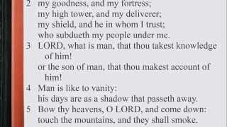 Psalm 144:1-15 ♪♩ KJV Scripture Song, Full Chapter Verbatim