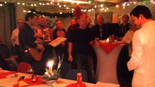 Nieuwendammer shantykoor kerst 2013 pannekoekenboot