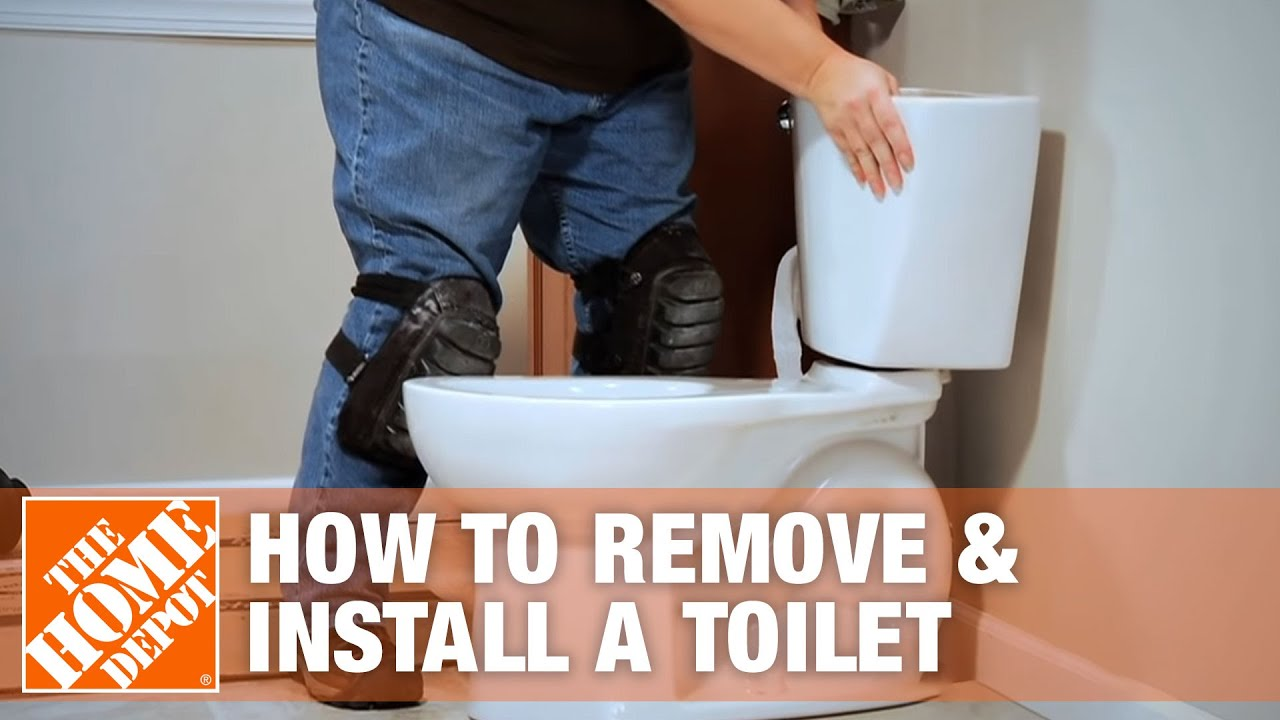 How To Remove And Install A Toilet The Home Depot Youtube