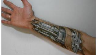 Drawing arm Automaton (robot) Trick Art - time lapse