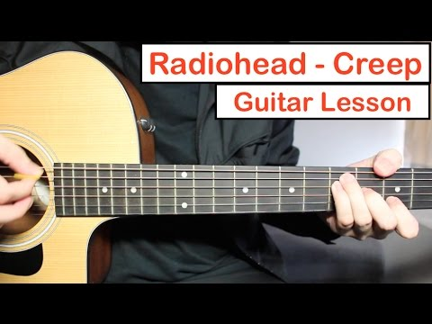 Radiohead - Creep | Guitar Lesson (Tutorial) How To Play Chords + Lead