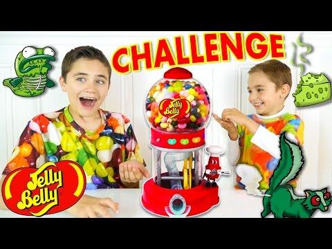 CHALLENGE JELLY BELLY MACHINE - Nouveaux Goûts Horribles : Pet de putois, Poisson pourri,...