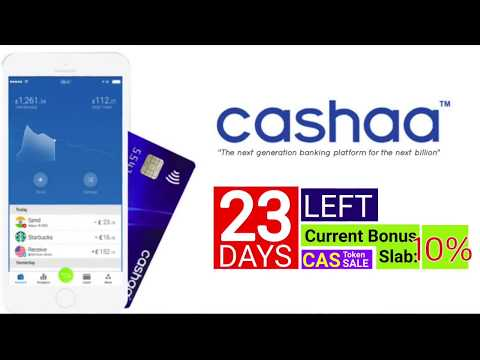 CASHAA. The next generation for banking platform🏦. A proven blockchain use case and technology.