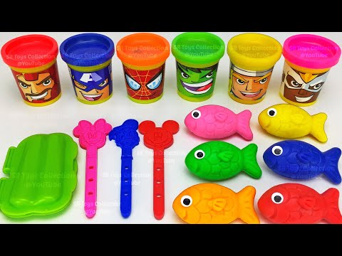 Making 3 Ice Cream Out Of Play Doh And Learn Numbers |  Chupa Chups PJ Masks Kinder Surprise Eggs