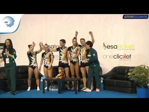 Hungary - 2017 Aerobics European bronze medallists, group
