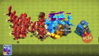 100 electro dragon 100 dragon attack in clash of clans