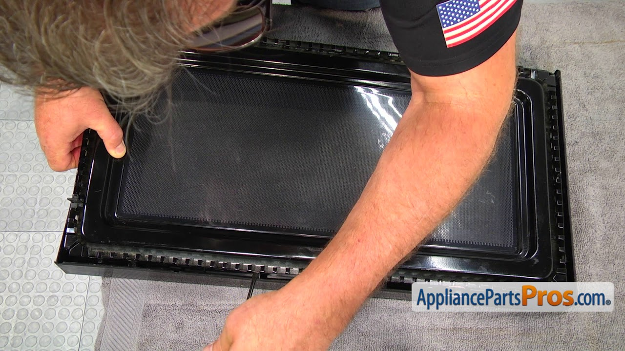 microwave door handle part w10259243 how to replace [ 1280 x 720 Pixel ]