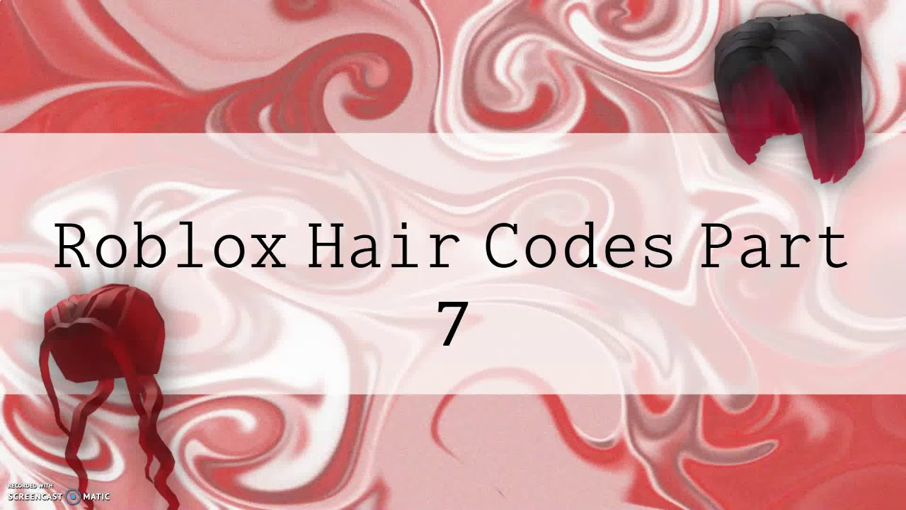 Roblox Girl Hair Codes Part 7 Youtube