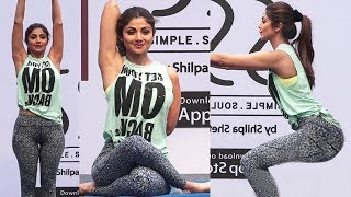 Shilpa Shetty Yogasan Video For Weight Loss   Yoga For Beginners