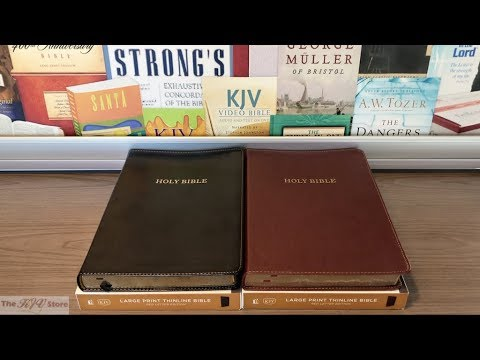 KJV Large Print Thinline Bible (Nelson)