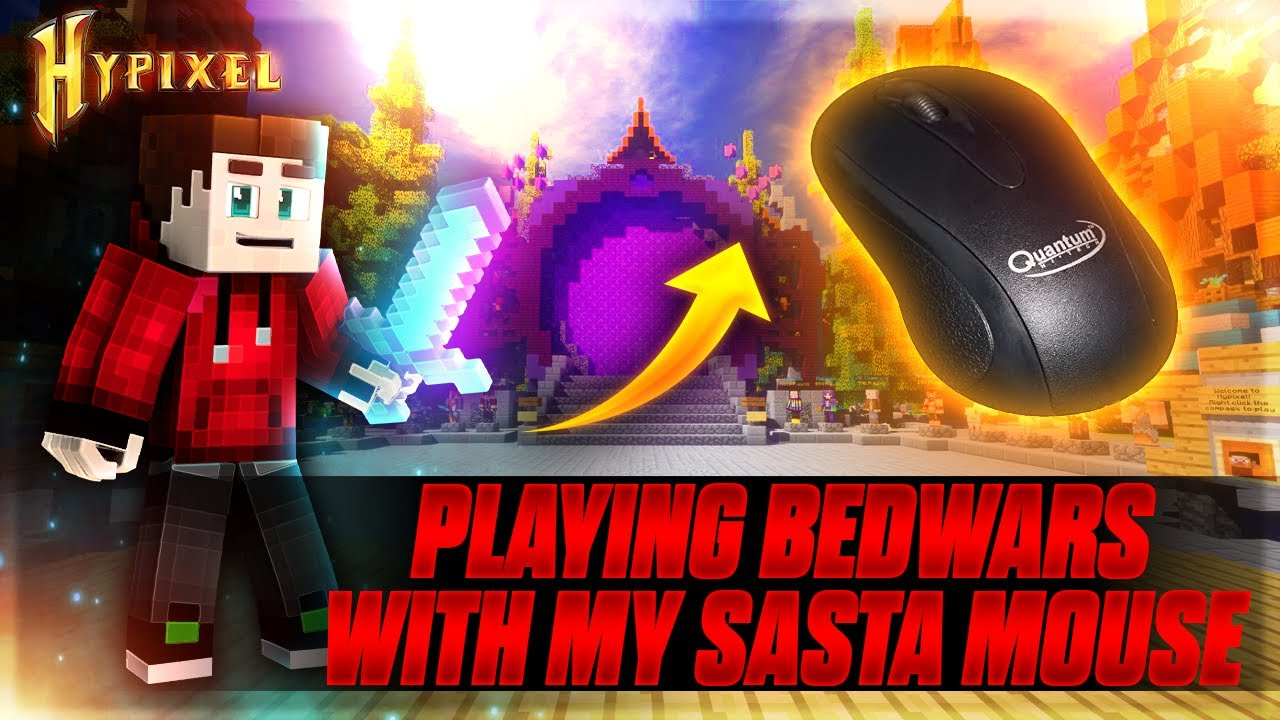 Playing With My Old Mouse Hypixel BedWars