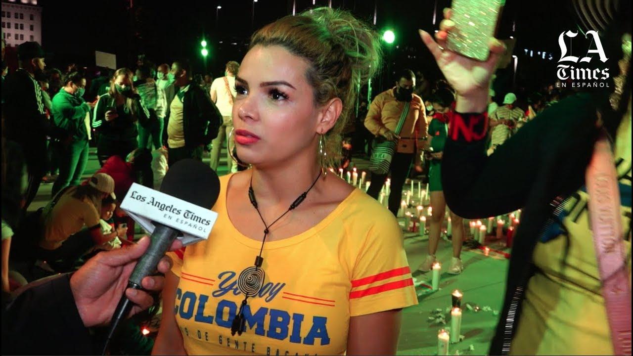 Colombianos en Los Ángeles desesperados por la situación en su país
