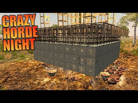 CRAZY HORDE NIGHT | GNAMOD 7 Days to Die | Let's Play Gameplay Alpha 16 | S01E03