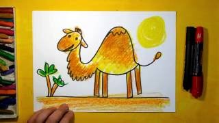How to Draw Camels in the desert