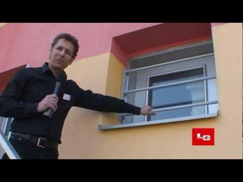 Adlo sicherheitsgitter fest youtube for Kellerfenster einbruchschutz
