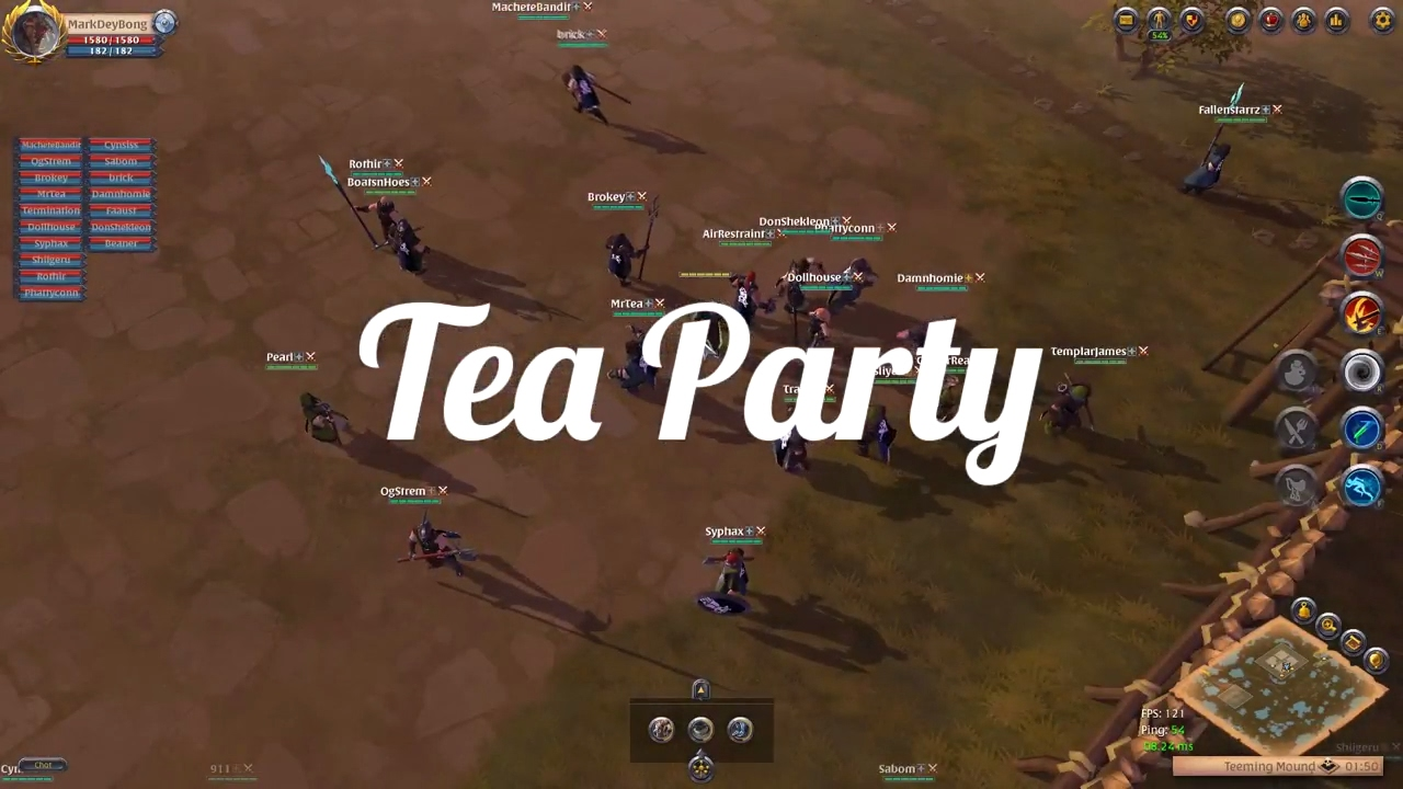 Albion Online - Spear Line OP??? Tea Party Final Beta 2017 Open World PvP