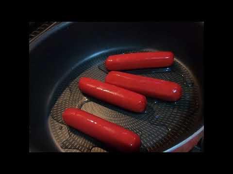 Pan Fried Hotdog