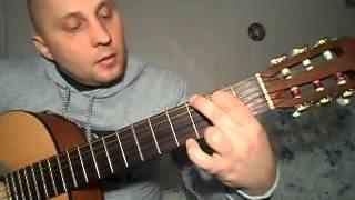 Как просто сыграть на гитаре зелёные рукава. 2 часть