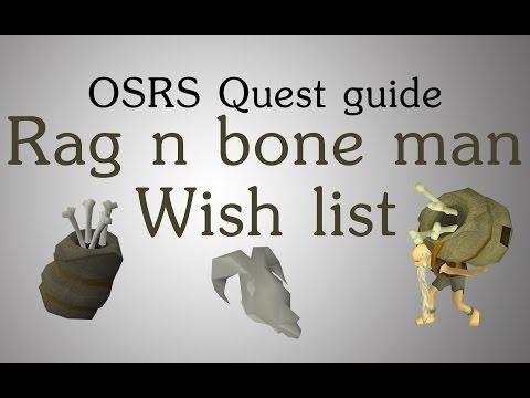 [OSRS] Rag and bone man wish list quest guide