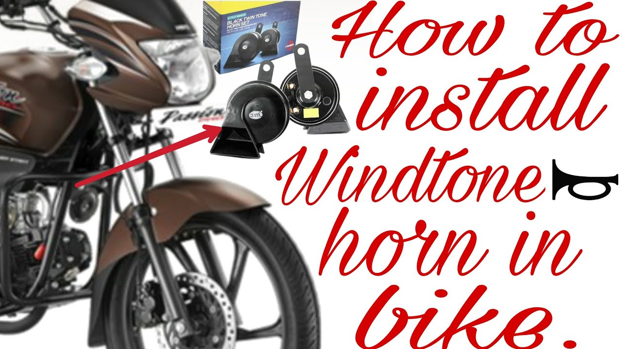 How To Install Windtone Horn In Bike 12v Relay Wiring