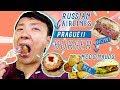 Russian Airlines Business Class, INSANE BURGER & McDonalds In Prague!