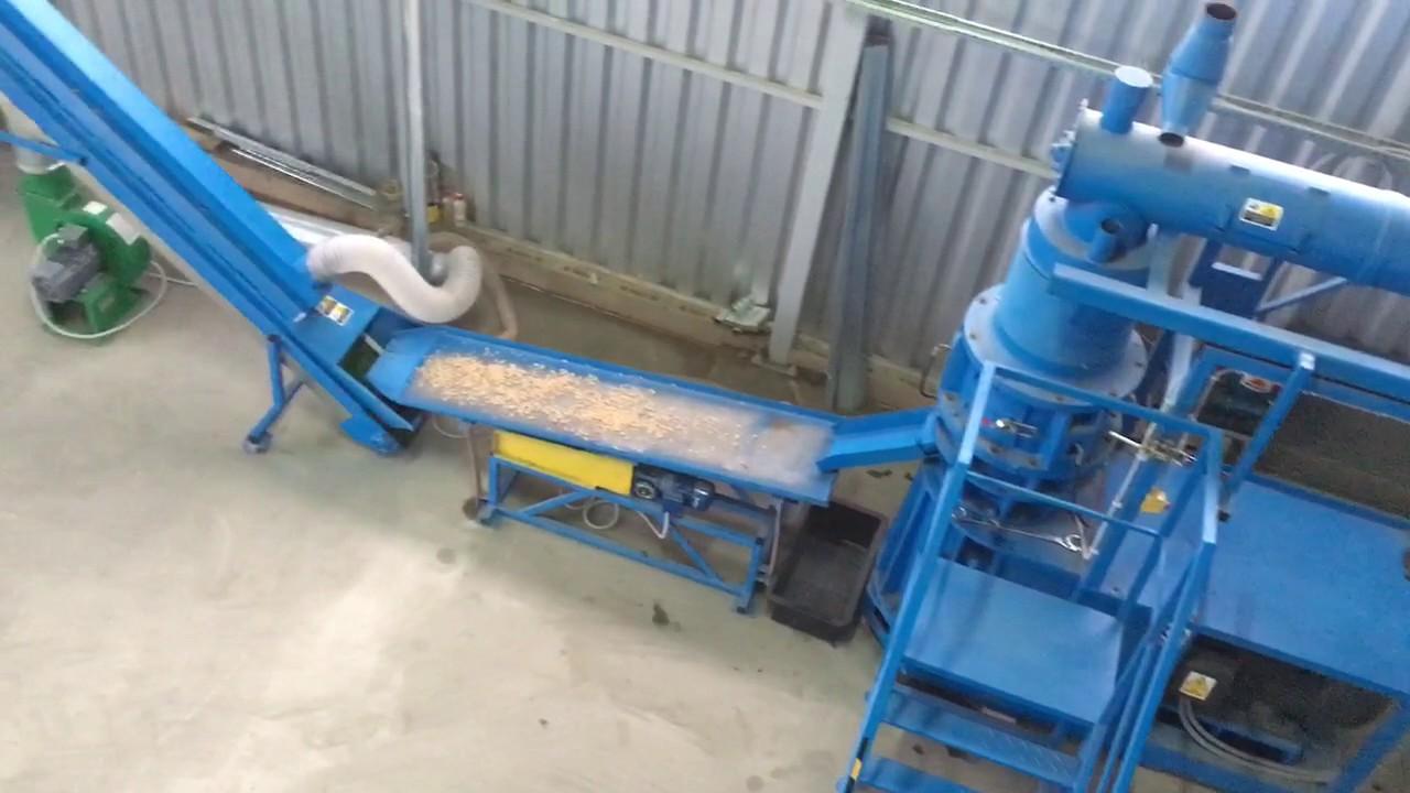 Niewiarygodnie Linia do produkcji peletu 535kg/h produkcja BRIKOL - YouTube PU71