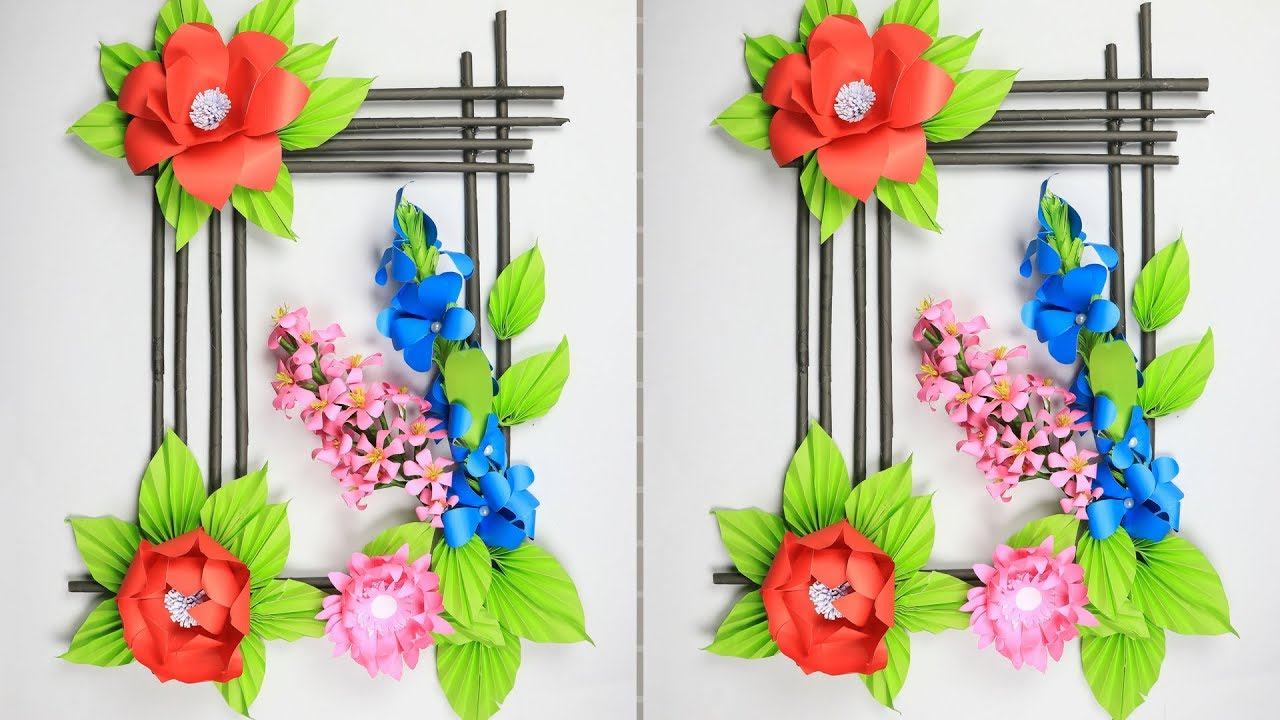 Paper Flower Wall Hanging: DIY Hanging Flower | Wall ...