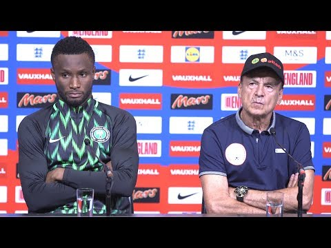 England 2-1 Nigeria - Gernot Rohr & John Obi Mikel Post Match Press Conference -On Defeat To England