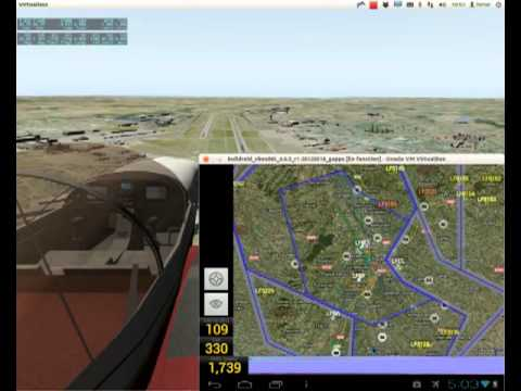 Moving map x plane