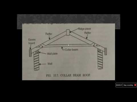 A.Arun Kumar Video lecture on Different types of pitched roof