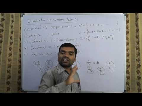 Number System, Natural, Integer, Rational, Irrational, Real Line & XY Plane in hindi