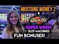 Quick Hit Superwheel BONUSES! $10/Spin BONUS on Mustang Money 2 Slot Machine!!