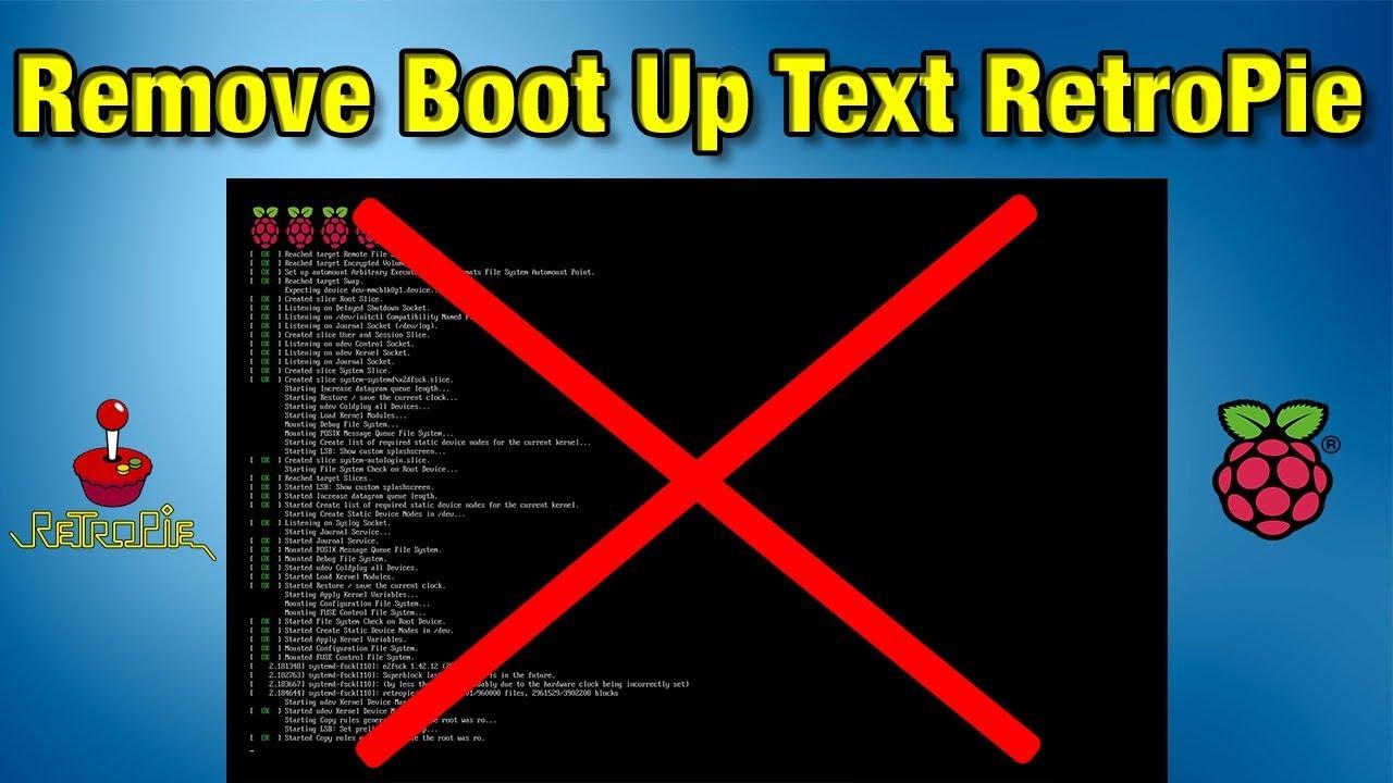 Remove Boot Text RetroPie On The Raspberry Pi