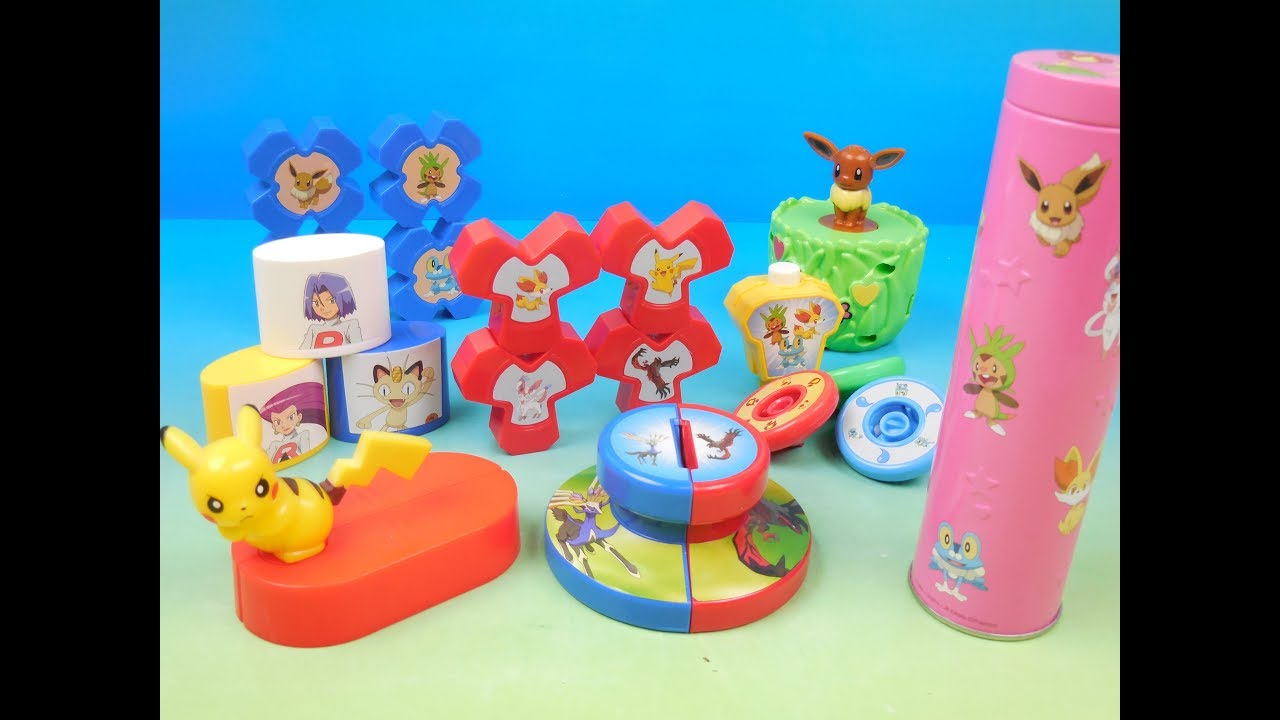 2013 Pokemon Set Of 6 Mcdonalds Happy Meal Kids Toys Video Review