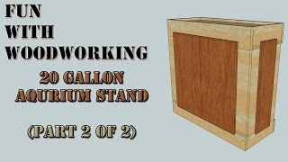 Project - How To Build A Very Strong Stand For Your 20 Gallon Aquarium/fish Tank (part 2 Of 2)