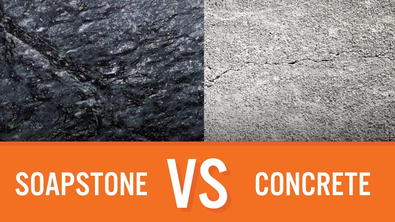 Concrete Countertops Cost Vs Granite Soapstone Vs Concrete  Countertop Comparison  Youtube